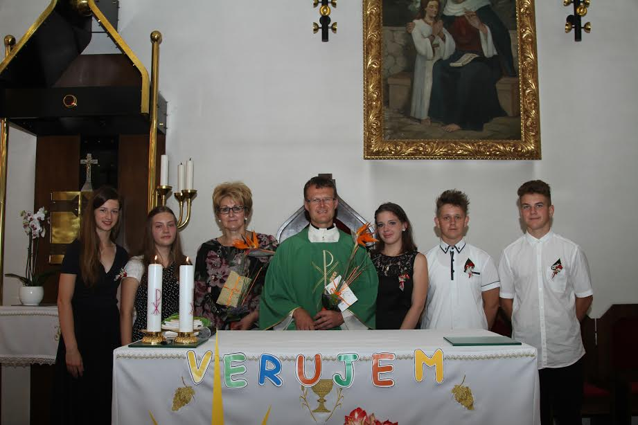 Izpoved vere devetošolci
