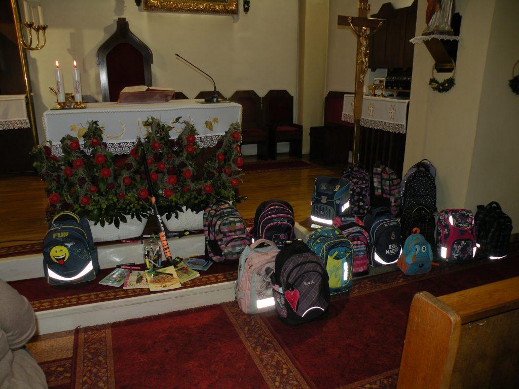 Blagoslov šolskih torbic