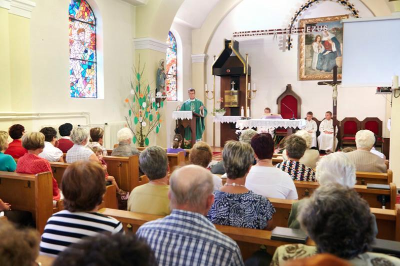 Pri nedeljski sveti maši v Bakovcih
