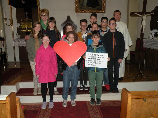 5. velikonočna nedelja-sodelovanje veroučencev