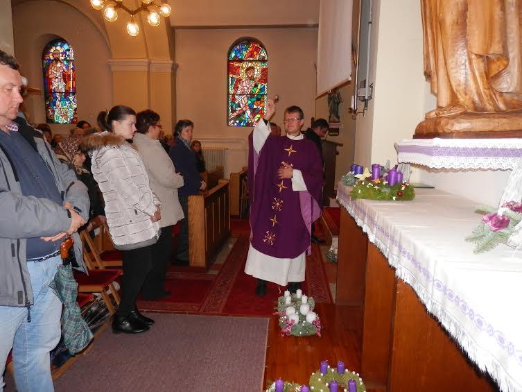 1. adventna nedelja - blagoslov adventnih venčkov