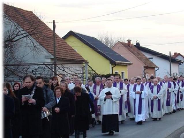 Pogrebni sprevod 12. januar 2008