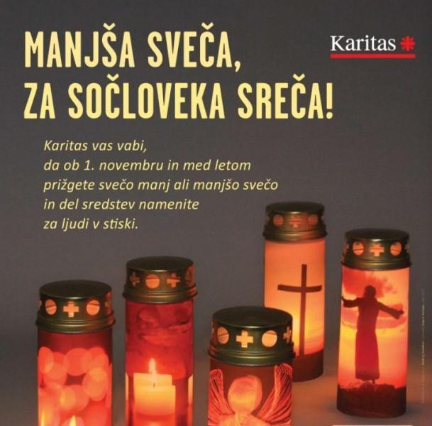 Manjša sveča - za sočloveka sreča!