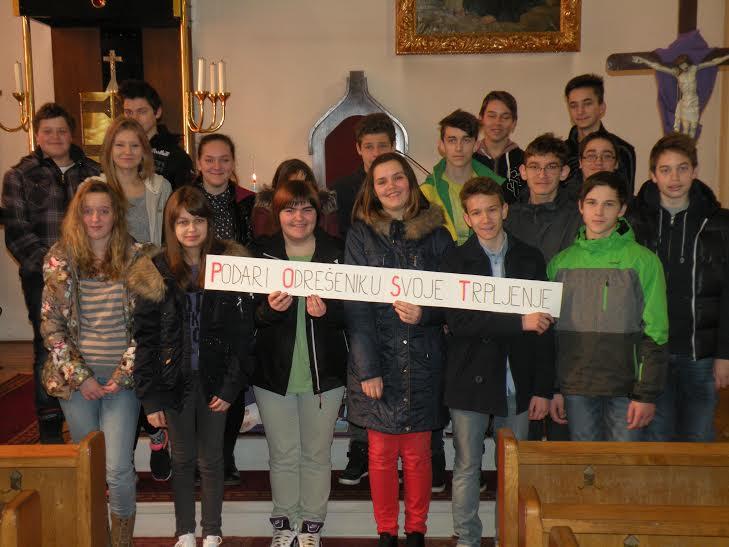 3. postna nedelja-sodelovanje veroučencev